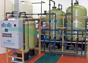 50 gpm ion exchange rinse water recycle system